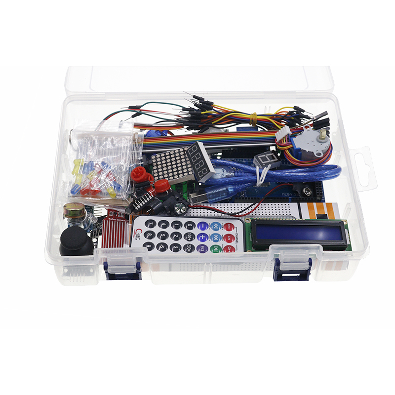 Tools : Free shipping mega 2560 r3 starter kit motor servo RFID Ultrasonic Ranging relay LCD for arduino