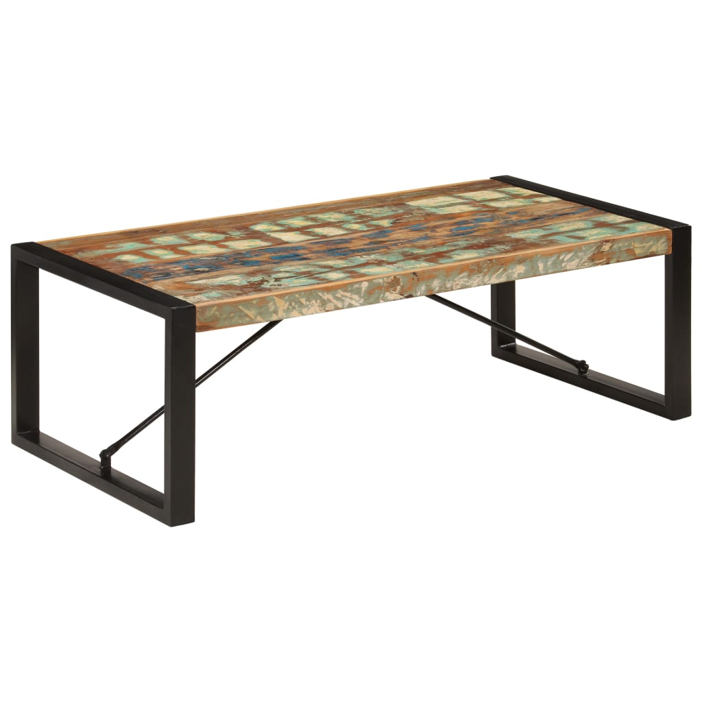 VidaXL Coffee Table 120x60x40 Cm Solid Reclaimed Wood
