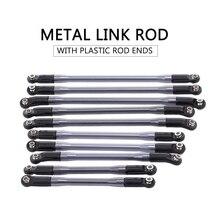 Nieuwe 10pcs Metal Link W/Plastic Stangkoppen voor Axiale SCX10 II 90046 90047 RC Crawler Auto