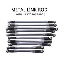 Novo 10 pçs metal link com/plástico haste termina para axial scx10 ii 90046 90047 rc rastreador carro