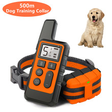 500M Electric Dog Training Collar Pet Remote Control Device Backlight Display Waterproof Rechargeable Shock Collar 38% OFF