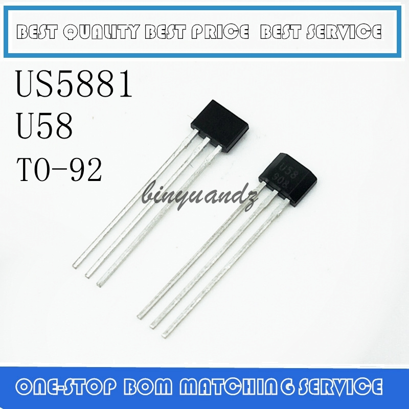 5pcs/lot US5881 US5881LUA US5881KUA HAL5881  Unipolar Hall Switch 3.5V To 24V Low Sensitivity US5881 New Original