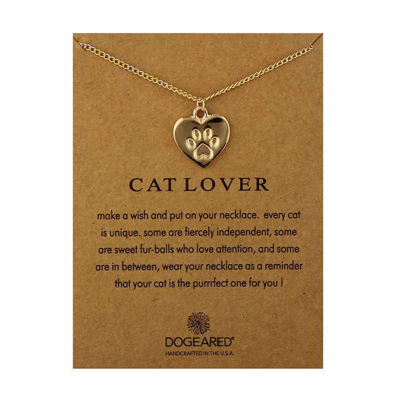 Fashion Jewelry Pet Dog Paw Friendship Heart Chocker Necklace Pendant For Women Jewelry For Women Choker Necklaces Gift