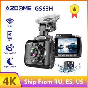 AZDOME GS63H 4K 2160P Dual Lens Built in GPS WiFi FHD 1080P Front + VGA Rear Camera Car DVR Recorder Dash Cam Night Vision(China)