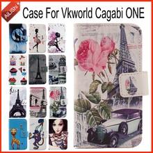 Ailishi hot!!! Vkworld cagabi one case 용 최고급 플립 럭셔리 가죽 케이스 독점적 인 100% 스페셜 폰 커버 스킨 + 트래킹