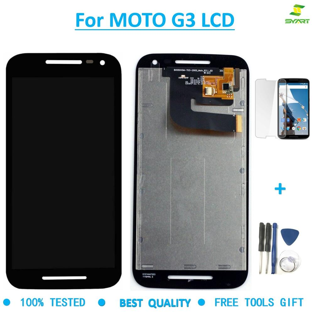 For Motorola MOTO G3 XT1540 XT1541 XT1543 LCD Display Touch Screen Digitizer Assembly For Moto G3 5.0""