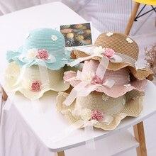 цена на Wholesale 10Pcs/lot Parent-Child Straw Hat Two-Piece Set Stylish All-Matching Beach Resort Straw Hat Hand-Woven Hat And Bag Set