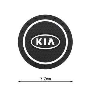2PC Car Water Cup Bottle Holder Anti-slip Pad Mat Silica Gel For Toyota Chevrolet Renault Skoda Fiat Ford Nissan BMW accessories
