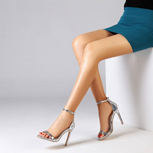 цена 2019 Party Dress Women Sandal Sexy Fashion High Heels Sandals Ankle Strap Summer Women's Shoes Peep Toe High Heels Shoes Woman