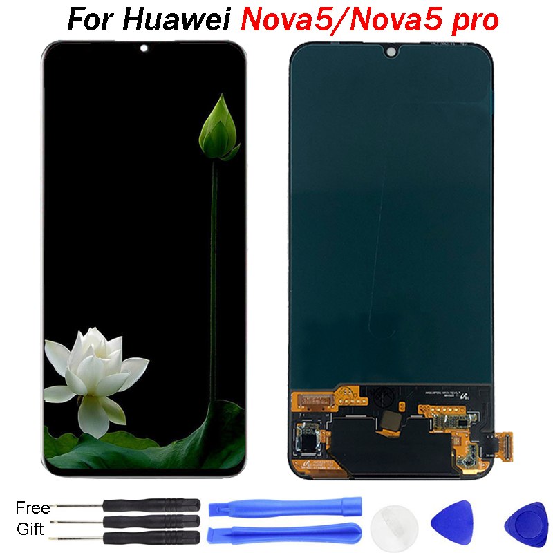Original For Huawei Nova 5 LCD Display touch screen Glass Pro Screen Touch Panel Sensor Replace