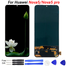 Original For Huawei Nova 5 LCD Display touch screen Glass Pro Screen Touch Panel Sensor Replace