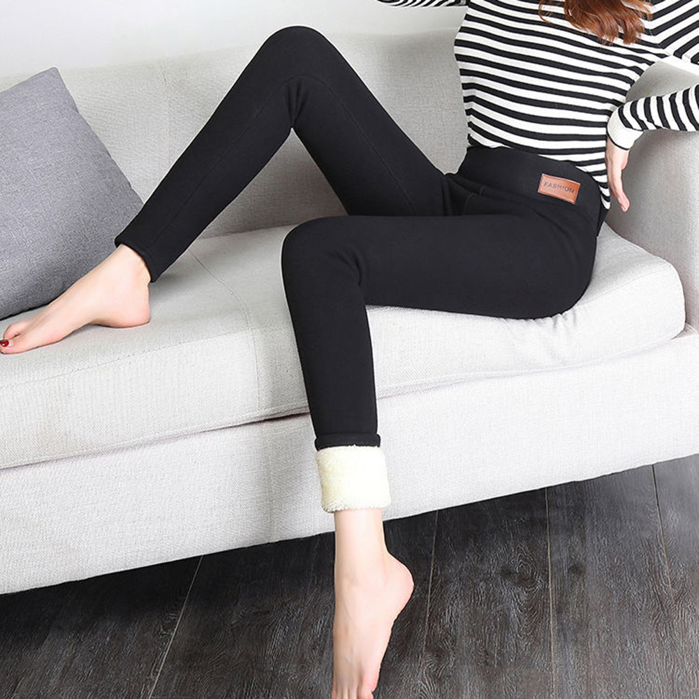 Ladies High Waist Super-thick Trousers Skinny Capris Fashion Women's Winter Warm Skinny Pants Tights New  Dropshipping