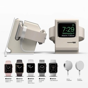 Image 5 - Retro Charger Dock Compact Stand For Apple Watch Series 1/2 38mm 42mm Charging Docking Desktop Holder New