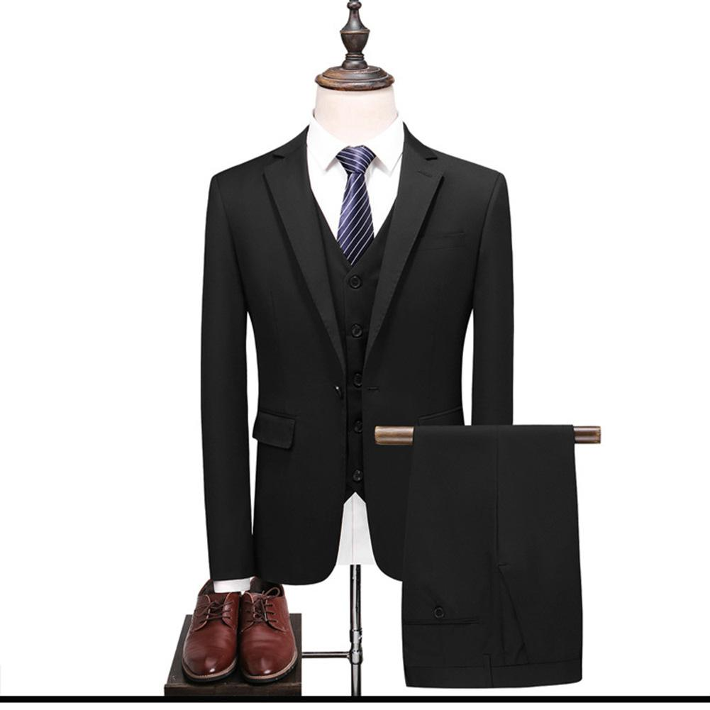 3Pcs/set Men Suits Set Sliming Fit Casual Business Blazer Jacket Vest Pants Wedding Groomsman Suit Dress Men's Clothing