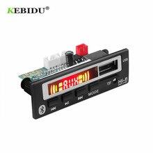 KEBIDU Bluetooth 5,0 MP3 WMA WAV декодер доска 5 в 12 В беспроводной аудио модуль цветной экран USB TF FM радио для автомобиля аксессуары