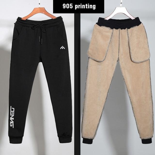 6XL 7XL 8XL Men's Winter Warm Pants Windbreaker Fashion Thicken cotton Pants Streetwear Sweatpants velvet Joggers Man Trousers