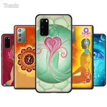 Mandala Chakra Yoga Soft Covers for Samsung Galaxy S20 S10 Note 20 Ultra 5G 9 10 Lite S10e S9 S8 Plus Black Silicone Cases(China)