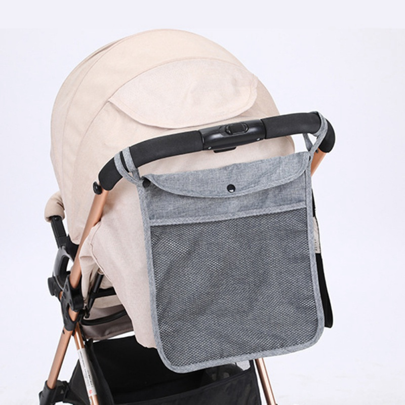 Waterproof Baby Stroller Organizer Bag Large Capacity Diaper Bags Carriage Storage Package Holder Stroller Basket 3 Colors