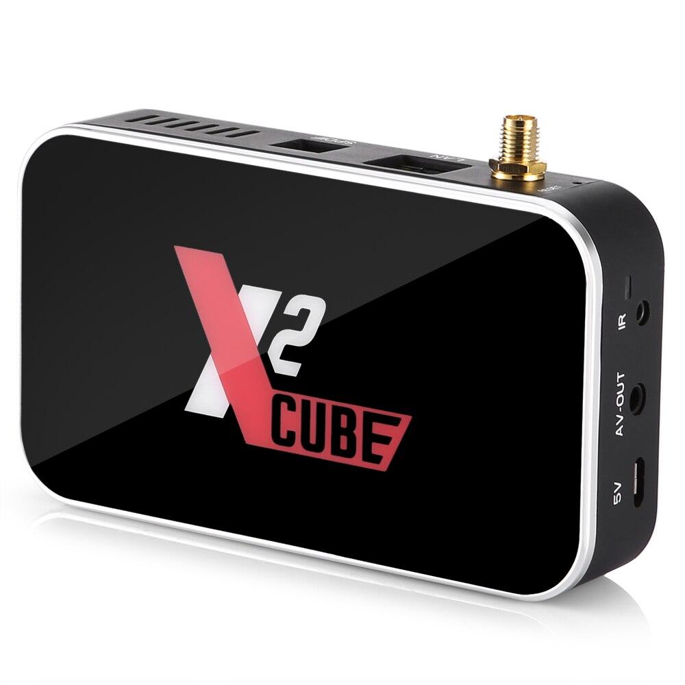 X2 CUBE Smart Android 9.0 TV Box Amlogic S905X2 2GB DDR4 16GB ROM décodeur 2.4G/5G WiFi 1000M Bluetooth 4K HD lecteur multimédia
