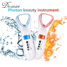 LED Face Lifting Ultrasonic Cryotherapy Hot Cold Hammer Light Photon Facial Machine Massager Face Tighten Wrinkle Remover Beauty