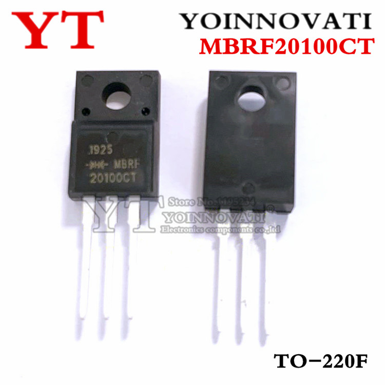 50pcs/lot MBRF20100CT MBRF20100 20100CT 20100  TO-220F IC