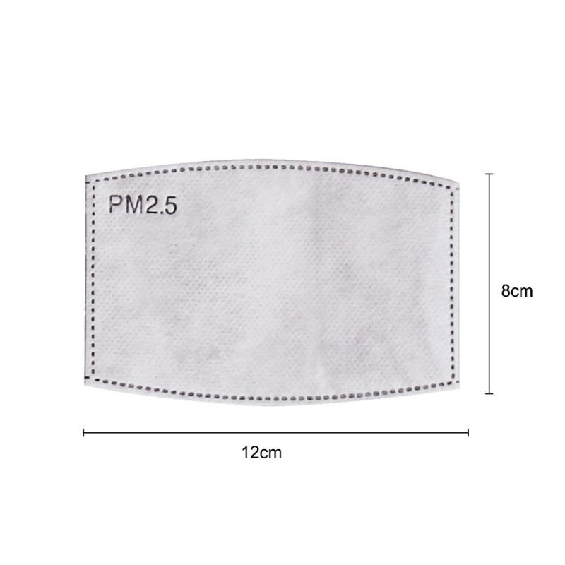 Dust Mask Filter PM2.5 Filter Paper Anti Haze Mouth Mask Anti Dust Mask Filter Paper Health Care Anti Pollution Mask Accessries