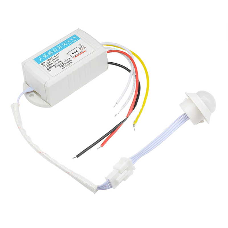 220V Human Body Infrared Sensor Switch Ceiling Type Corridor LED Light Intelligent Controller Sensor Split Type