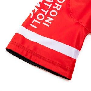 Image 5 - Equipe 2020 vermelho androni ciclismo jérsei 20d calções de bicicleta conjunto ropa ciclismo men verão secagem rápida pro roupas maillot