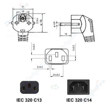 Power Supply Kabel untuk Proyektor monitor PC Printer Samsung LG TV PS4 Pro 2M 10ft 5M 10M 2