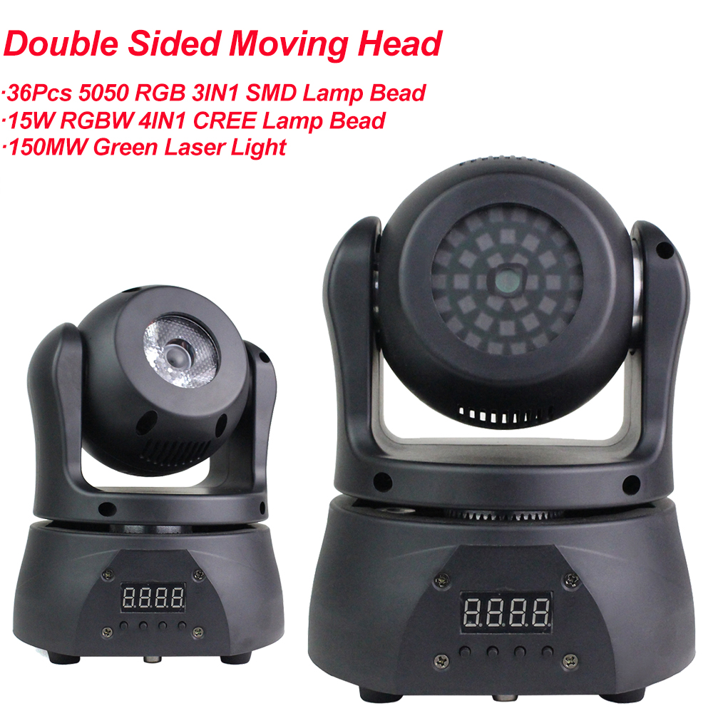 Mini 30W Pocket Double-Sided Moving Head Lights 36Pcs 5050 RGB 3IN1 SMD Stage Effect Lights New Design For DJ Disco Party
