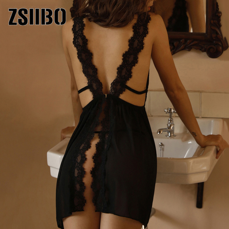 Women's peignoirs Sleepwear V neck Sexy Nightgown Casual Nightgown Comfortable Lace Pajamas Solid Color robe sets Sleepwear