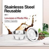 ICafilas Kaffee Filter Für Lavazza Reusable Edelstahl Nachfüllbare Kaffee Kapsel Für Lavazza EINE Modo Mio Maschine-in Kaffeefilter aus Heim und Garten bei