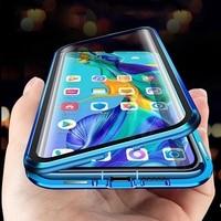 Custodia magnetica in metallo per Xiaomi Redmi Note 9s 7 8 8T 9 10X Pro Max K20 K30 Mi 9T Note 10 Lite Cover in vetro temperato a doppia faccia