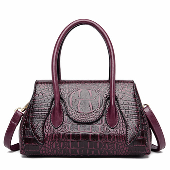 Crocodile Pattern Crossbody Bags for Women 2020 Luxury Handbags Women Shoulder Bags Designer Large Capacity Leather Tote Bags chance love 2018 new crocodile pattern suede genuine leather women s handbag large capacity shoulder bag women bags designer