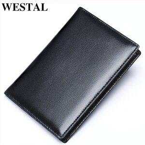Чехол для паспорта WESTAL 8990 мужской, из натуральной кожи