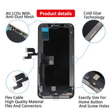 AAA RJ Incell Screen  For iPhone x lcd  No Dead Pixel With 3D Touch Digitizer Assembly For iPhone x xs xr xsmax 11 lcd with Gift