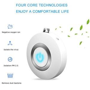 Image 5 - USB แบบพกพาเครื่องฟอกอากาศ Wearable,MINI AIR สร้อยคอ Ion Air Freshener ไม่มีรังสีต่ำสำหรับผู้ใหญ่