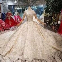 Vestidos de novia Vintage con mangas acampanadas y cuello alto con borlas y perlas Vestido de novia con tren largo Vestido de boda Civil