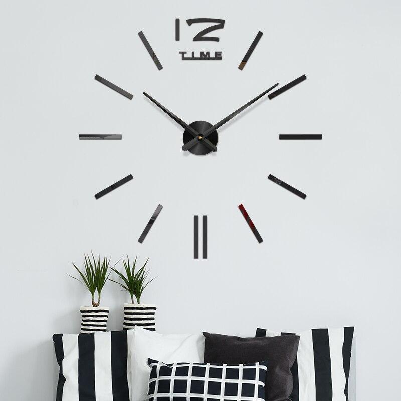 3d Quartz Wall Clocks Sticker Modern Design Diy Large Wall Clock Sticker Living Room Home Office Decor Christmas New Year Gift Wall Clocks Aliexpress