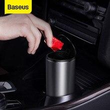 Baseus Car Trash Bin Can Mini Auto Dust Organizer Car Interior Rubbish Bag Garbage Container Storage Box Bucket Auto Accessories