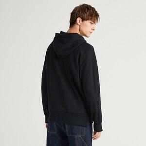 Image 4 - Pioneer Camp multicolore solide sweat à capuche pour homme Streetwear à capuche 100% coton noir marron jaune blanc casual sweat hommes AWY908094