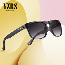 YZRS Brand Vintage Poalrized Sunglasses Men Driving UV400 Shades Male Retro Sun Glasses Black