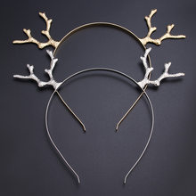 Christmas Lovely Antlers Girls Kids Adult Metal Headband Hairband Hair Hoop Party Cosplay Props Fancy Dress(China)