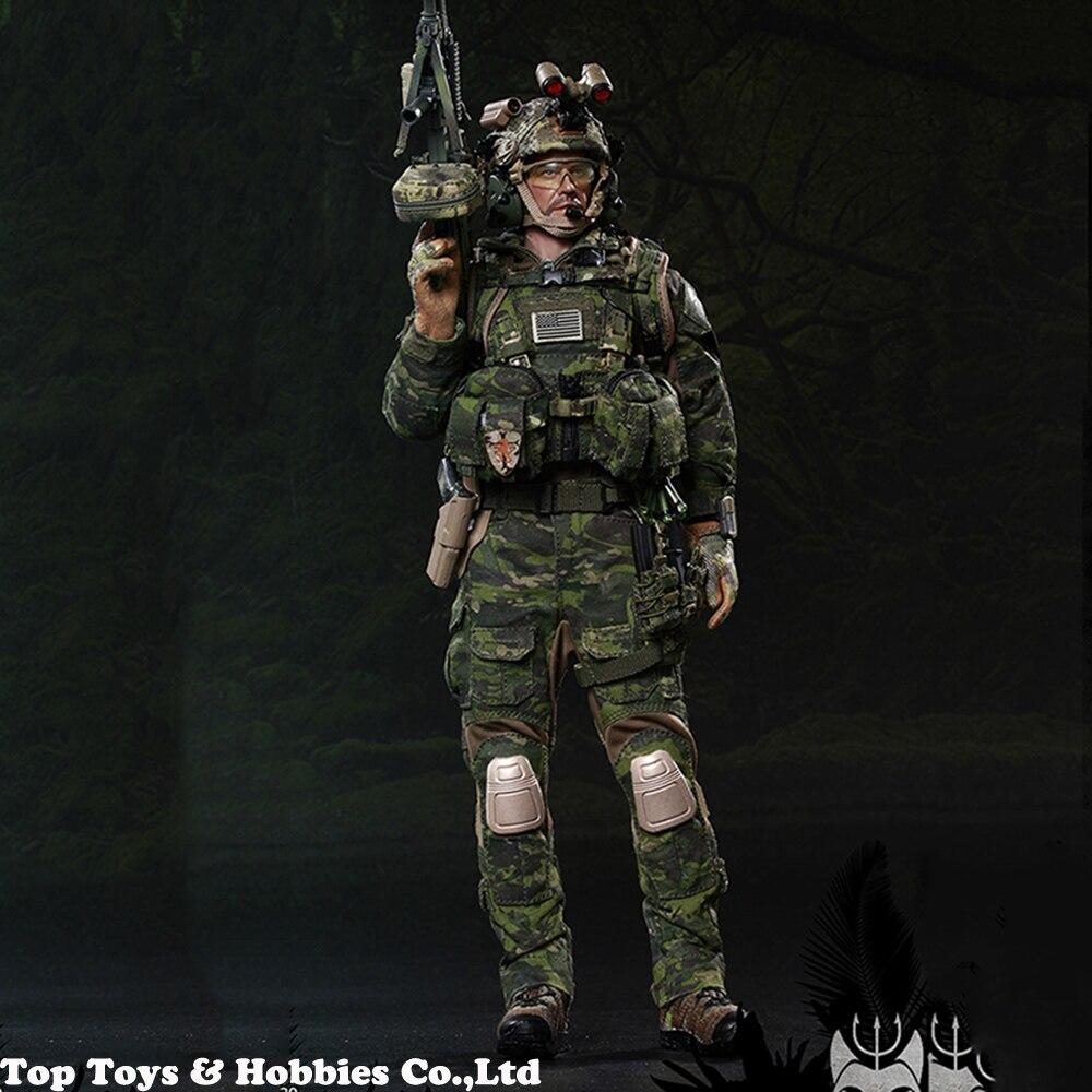 DEVGRU Jungle Dagger M249 Light Machine Gun #2-1//6 Scale Flagset Figures