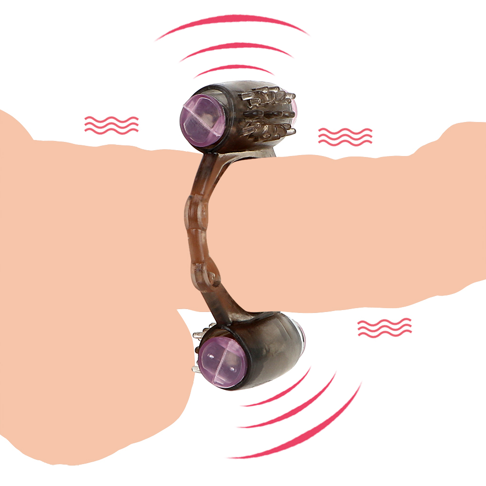 IKOKY Cock <font><b>Ring</b></font> Clit Stimulator <font><b>Sex</b></font> <font><b>Toys</b></font> for Men Male <font><b>G</b></font>-Spot Massager Vibrating <font><b>Ring</b></font> Penis Vibrator Penis <font><b>Ring</b></font> Dual Motor image