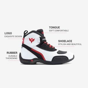 Image 4 - DUHAN botas protectoras de carreras para motocicleta para hombre, zapatos de malla para motocicleta, botas de carreras todoterreno para Motocross, botas para motocicleta