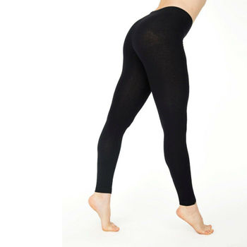 Women Cotton Leggings White Black Grey Solid Color Skinny Stretchy Leggings Casual Sports Leggings image