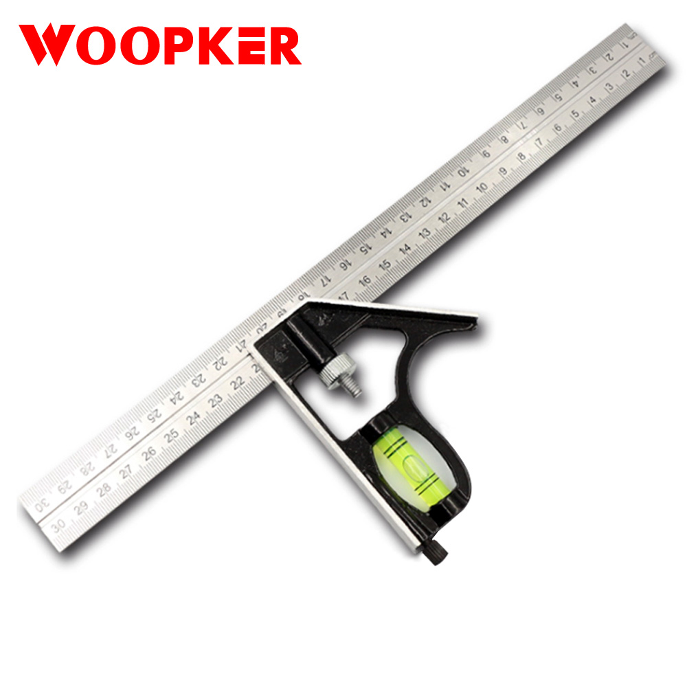 30cm Combination Square Ruler 45 90 Degree Angle Rulers Stainless Steel Engineering Surveying Drawing Tools