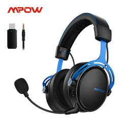 Mpow Air Wireless/Wired Stereo Gaming Headset For PS4 PC Xbox One 17h Playtime Headphone With Mic USB Transmitter Memory Foam