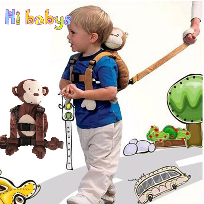 Cute Cartoon Animal Baby Safety Harness Backpack Kid Anti-lost Wrist Link Outdoor Children Walker Leash Storage Snack Toys Bag